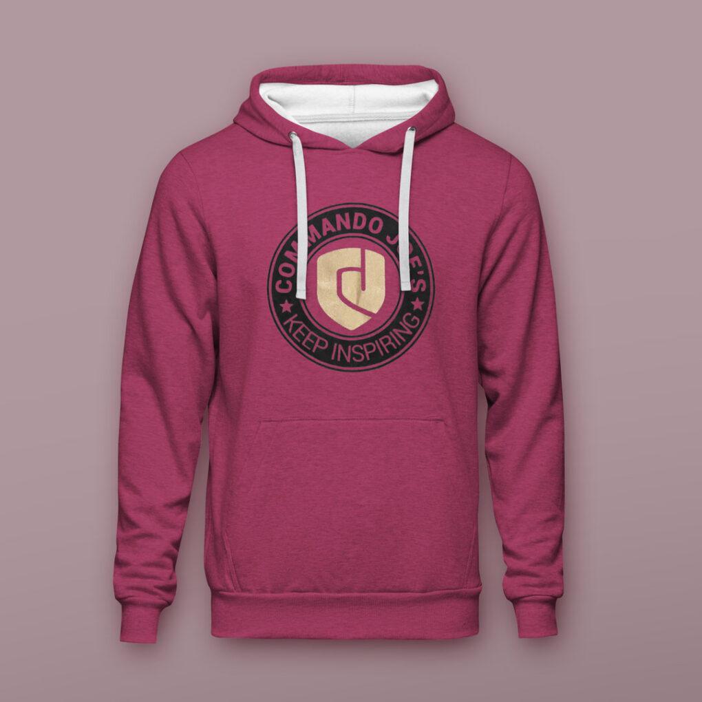 CJ's hoodie front purple
