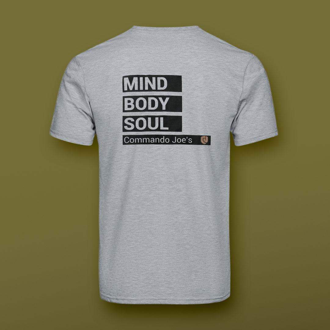 Grey CJ's t-shirt back