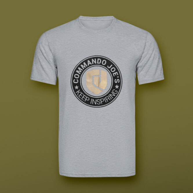 Grey CJ's t-shirt front